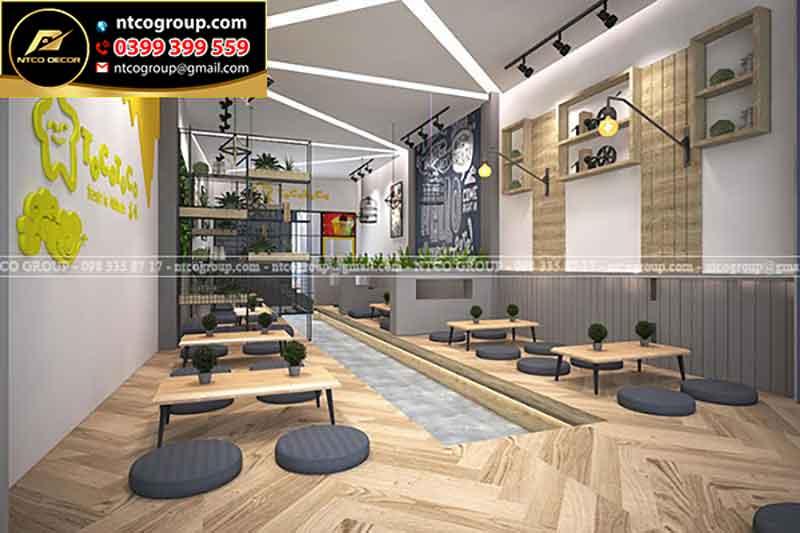 Thiết kế thi công quán trà sữa đẹp tại Tphcm, Long An, Bình Dương, Đồng Nai, Cần Thơ, Vũng Tàu...