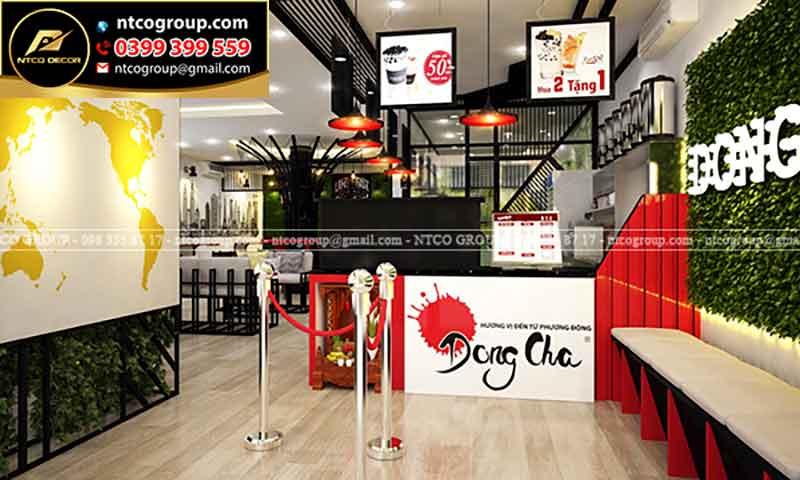Thiết kế quán trà sữa Dong Cha