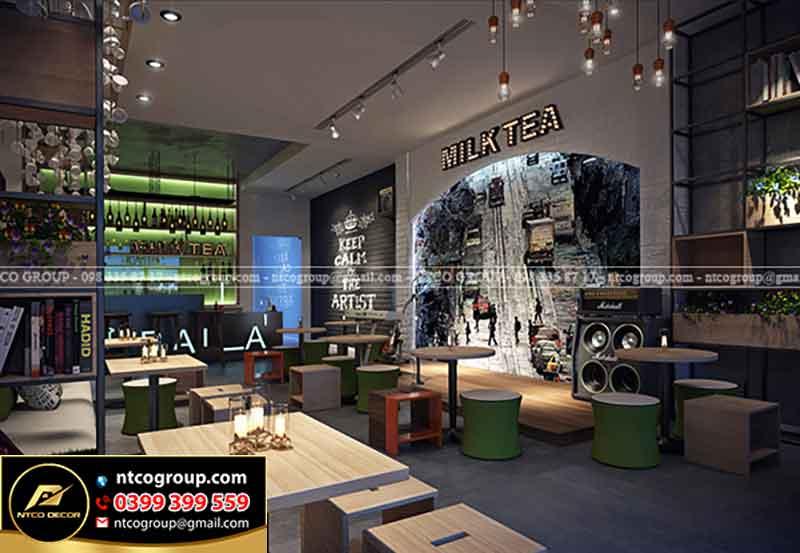 Bản vẽ thiết kế quán trà sữa Milk Tea đẹp ở Vũng Tàu