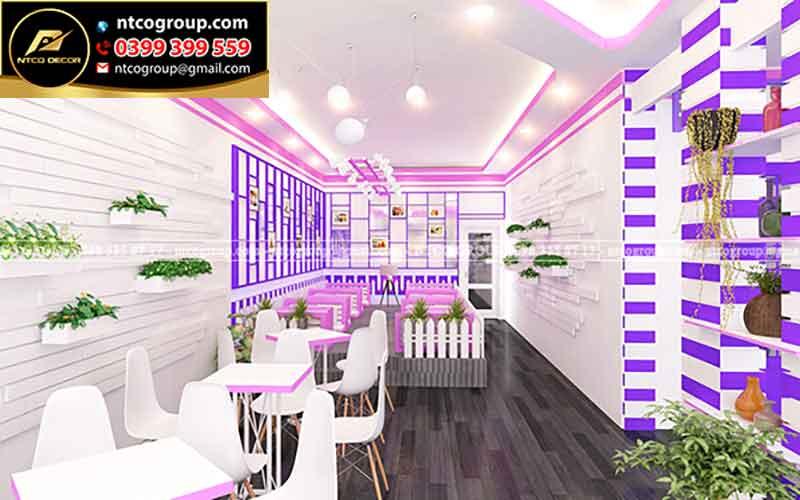 Bản vẽ thiết kế quán trà sữa ở Tây Ninh