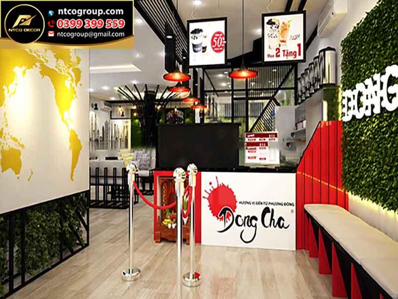 Thiết kế quán trà sữa đẹp ở Biên Hòa Đồng Nai