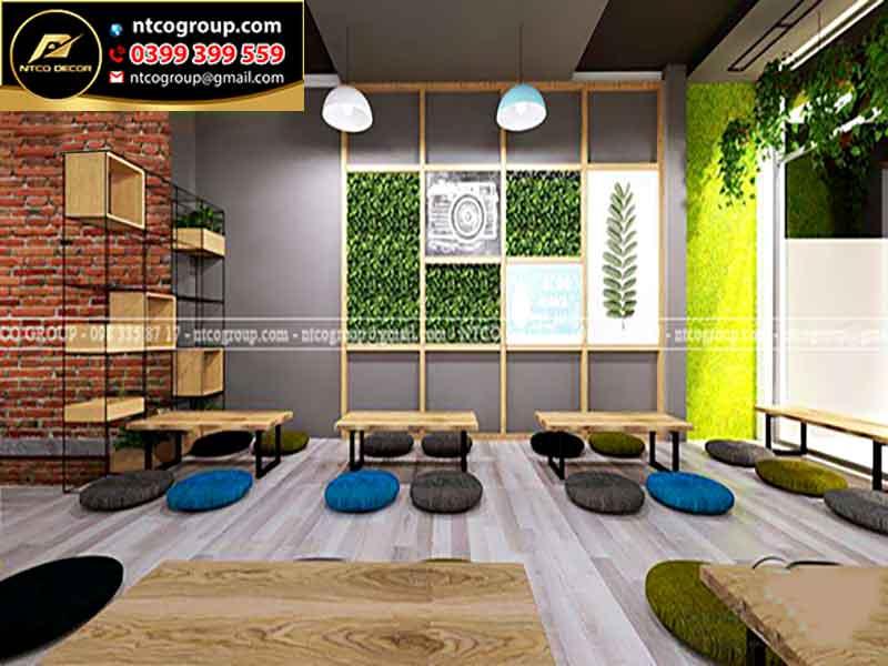 Thiết kế quán trà sữa đẹp ở tại Long An