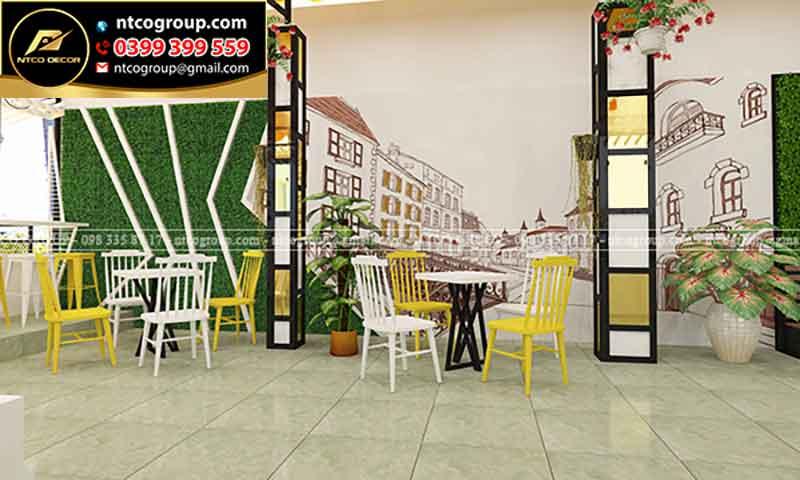 Trang trí tường quán trà sữa ALACA