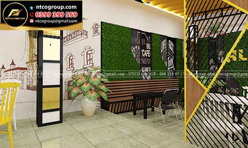 Thiết kế nội thất quán trà sữa đẹp ở Tây nguyên
