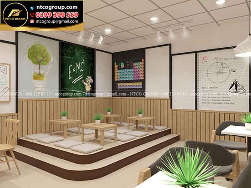 Thiết kế quán trà sữa ngồi bệt Meadow
