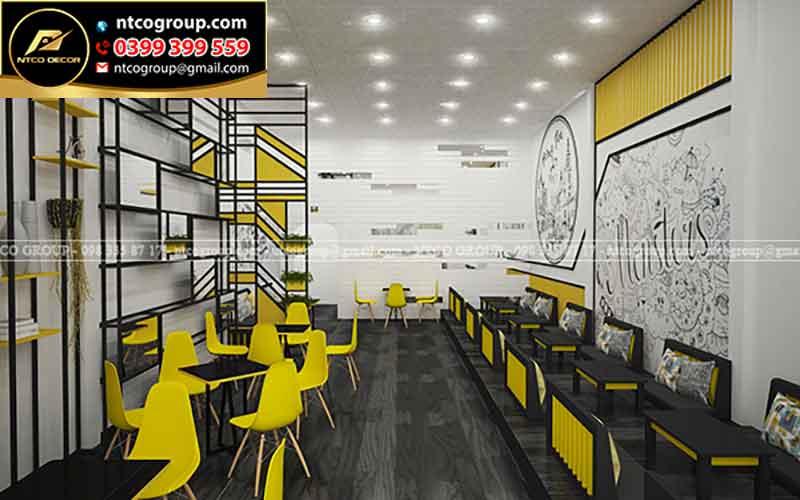 Thiết kế quán trà sữa đẹp ở quận 3, HCM