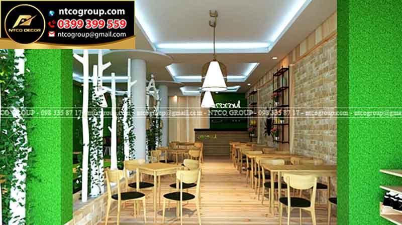 Trang trí quán trà sữa dễ thương tại Đồng Nai