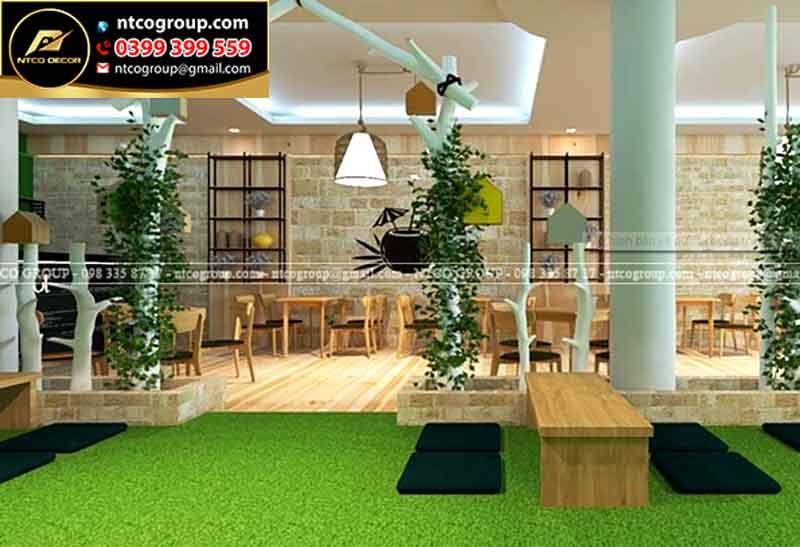 Thiết kế quán trà sữa đẹp ở Đồng Nai