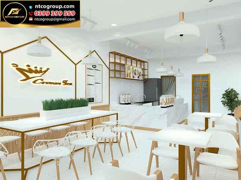Thiết kế quán trà sữa đẹp quận 4