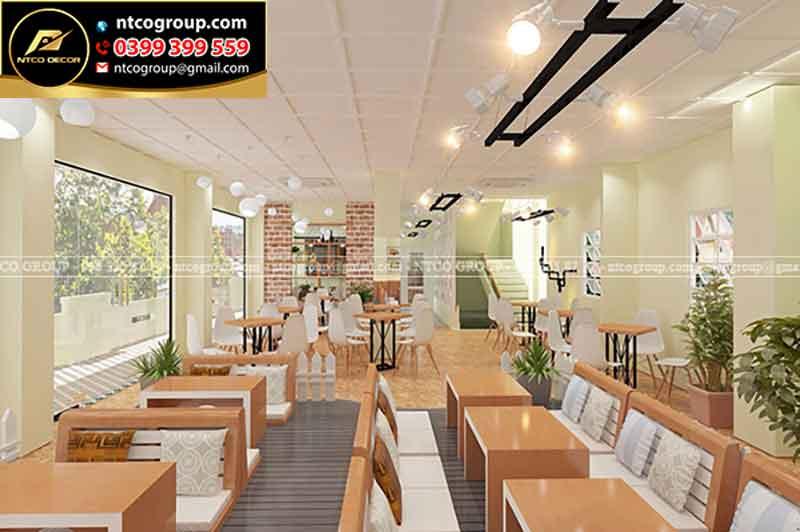Thiết kế quán trà sữa ngồi bệt ở Lái Thiêu, Bình DƯơng