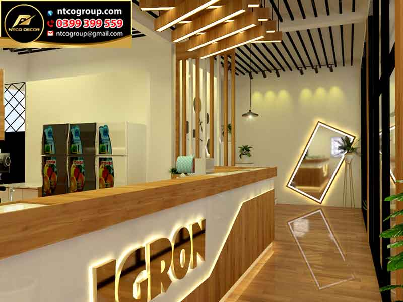 Thiết kế quán trà sữa đẹp, hút khách ở Rạch Giá Kiên Giang