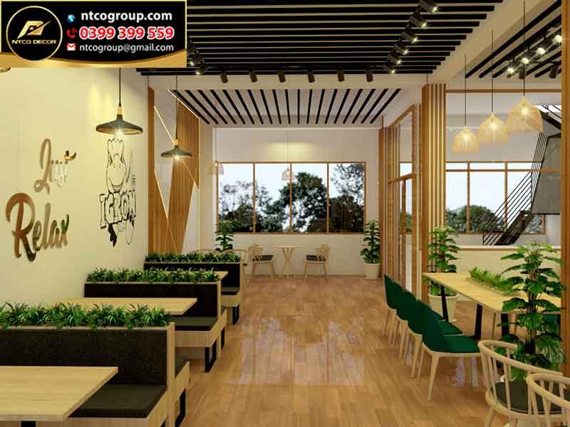 Thiết kế quán trà sữa đẹp ở Rạch Giá Kiên Giang