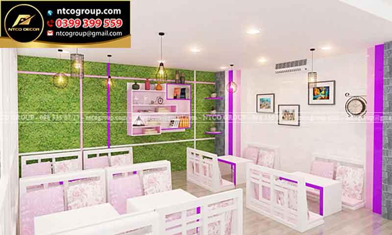 Thiết kế quán trà sữa ngồi bệt ở Long An