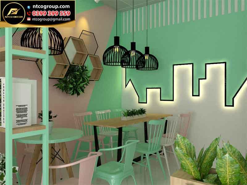Tường trang trí quán trà sữa độc lạ, ấn tượng tại Oanh Bubble Tea