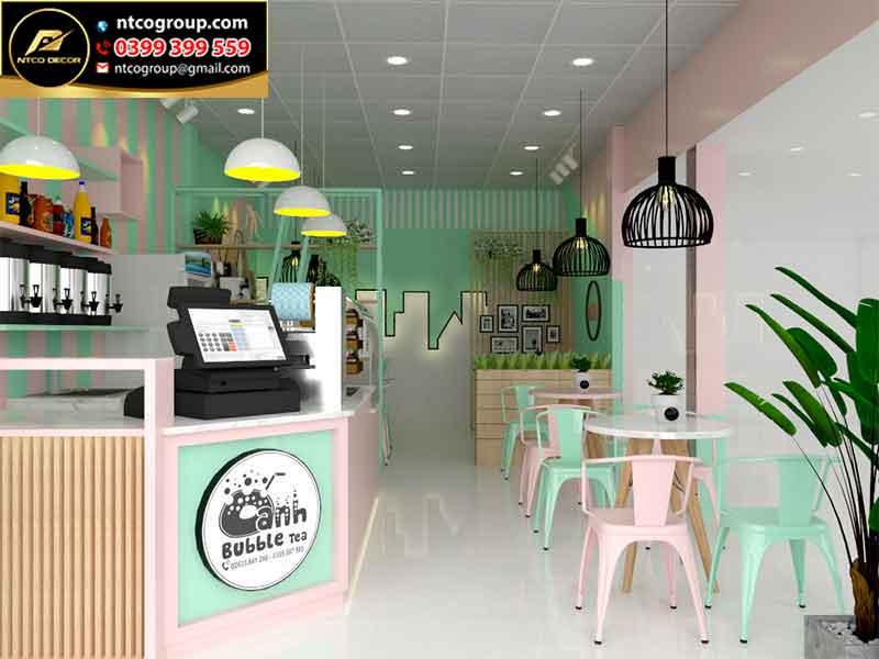 thiết kế quán trà sữa ở Lâm Đồng Đà Lạt