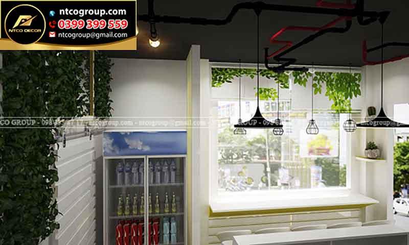 Mẫu thiết kế quán trà sữa đẹp, tphcm