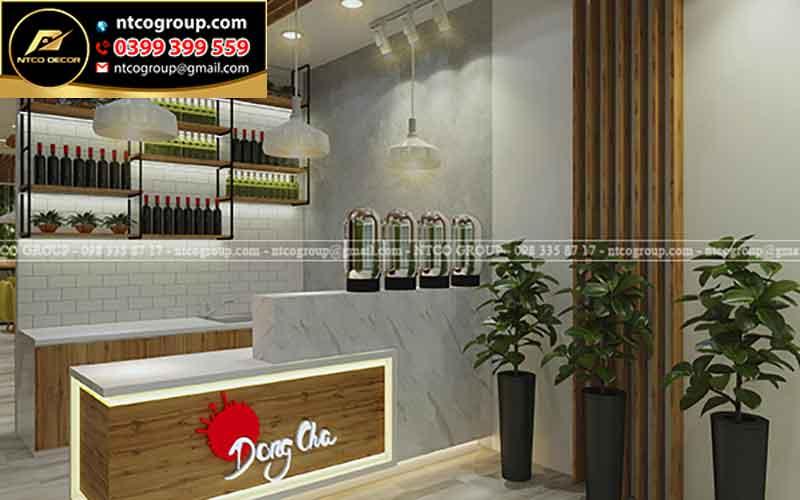 Công ty thiết kế quán trà sữa Dong cha Tiền Giang