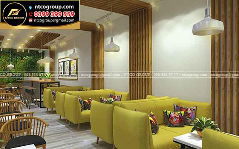 Thiết kế quán trà sữa đẹp ở Tiền Giang