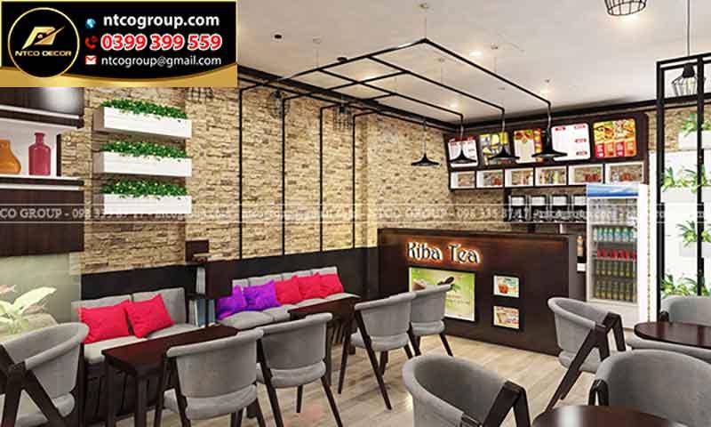 Thiết kế quán trà sữa Kiba Tea siêu sang trọn, hút khách, hiện đại ở Bến Tre