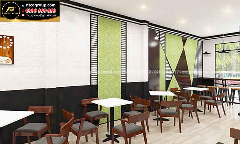 Thiết kế quán trà sữa đẹp Kiba Tea ở tại Bến Tre