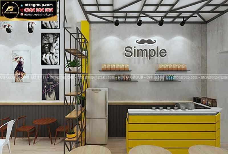 Thiết kế quán trà sữa dễ thương tại Cần Thơ
